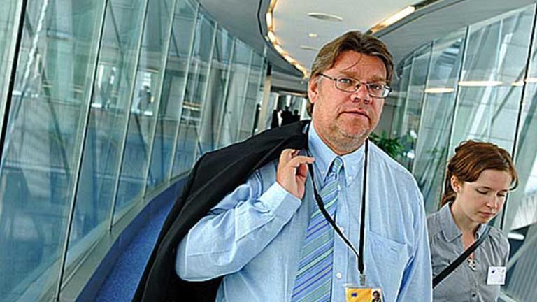 Sannfinländarnas ledare Timo Soini var EU-parlamentariker 2009-2011. Arkivbild.