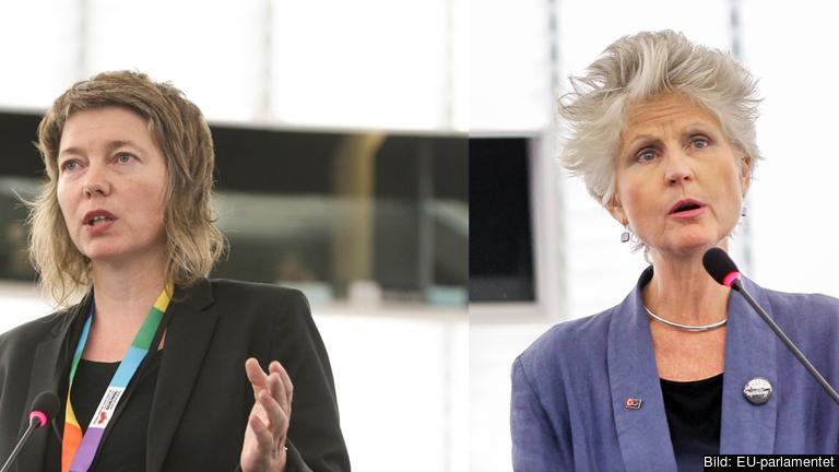 EU-parlamentarikerna Malin Björk (V) och Anna Maria Corazza Bildt (M). Arkivbild.