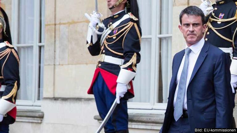 Frankrikes premiärminister Manuel Valls har fått uppdraget att bilda en ny regeringen efter helgens budgetdespyt. Arkivbild.