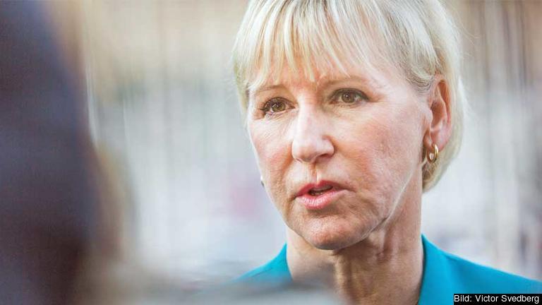 Det är inte aktuellt för Sverige att söka EU:s stöd i konflikten med Saudiarabien. Den vill Sverige sköta själv, deklarerade utrikesminister Margot Wallström på fredagen. Arkivbild.