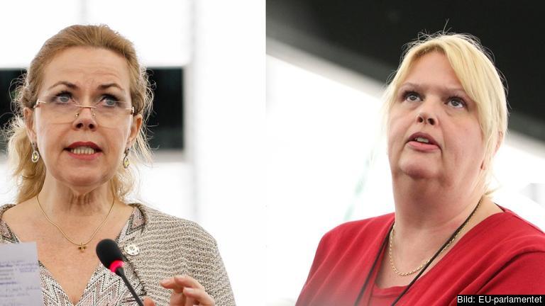 EU-parlamentarikerna Cecilia Wikström (FP) och Anna Hedh (S). Arkivbild.