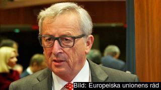 EU-kommissionens ordförande Jean-Claude Juncker under torsdagens EU-toppmöte.