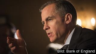 Den brittiska centralbankschefen Mark Carney. Arkivbild.