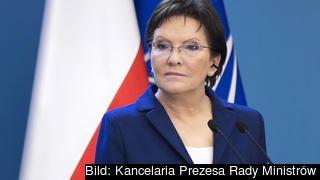 Polens premiärminister Ewa Kopacz. Arkivbild.