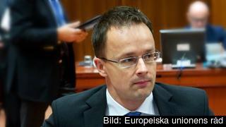 Ungerns utrikesminister Péter Szijjártó. Arkivbild.