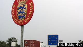 Gränsen mellan Tyskland och Danmark. Arkivbild.