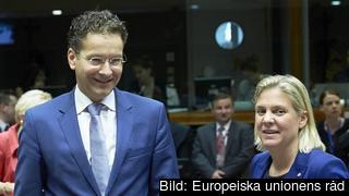 Nederländernas finansminister Jeroen Dijsselbloem och finansminister Magdalena Andersson. Arkivbild.