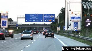 Hittills har det varit gratis att köra på det tyska motorvägarna, Autobahn. Arkivbild.