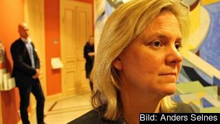 Finansminister Magdalena Andersson (S) vet ännu inte om Sverige kommer öronmärka några pengar till Junckerfonden. Arkivbild.