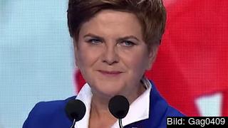 Polens väntade nästa premiärminister Beata Szydło. Foto: Gag0409