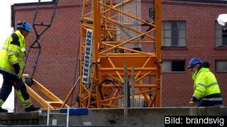 En av tre utstationerade arbetare i Sverige jobbar inom byggbranschen. Arkivbild.
