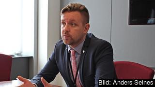 Centerpartiets EU-parlamentariker Frederik Federley. Arkivbild.