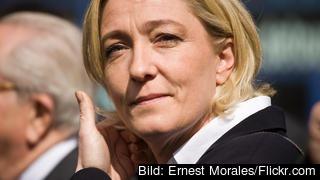 EU-parlamentarikern Marine Le Pen leder den nationalistiska partigruppen ENF. Arkivbild.