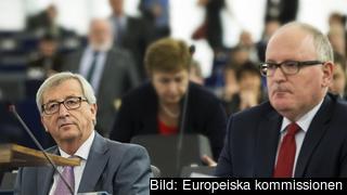 EU-kommissionens ordförande Jean-Claude Juncker och förste vice EU-kommissionär Frans Timmermans.