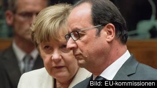 Tysklands förbundskansler Angela Merkel och Frankrikes president François Hollande. Arkivbild.