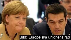 Tysklands förbundskansler Angela Merkel och Greklands premiärminister Alexis Tsipras. Arkivbild.