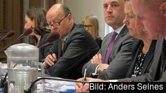 Statsminister Fredrik Reinfeldt under en tidigare EU-nämnd. Onsdagens möte höll per telefon. Arkivbild.