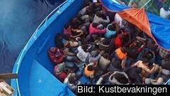 107 500 flyktingar försökte under juli ta sig över gränsen till EU. Arkivbild.